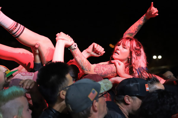 A fan gets carried away during Punk in Drublic in Sacramento. Shaun Astor / Tahoe Onstage images