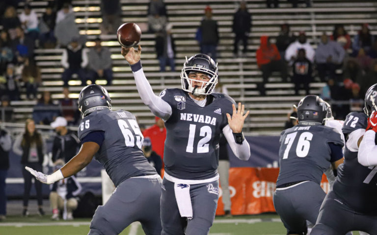 Carson Strong and Nevada couldn't complete the comeback against Ohio on Friday.  Michael Smyth/ Taho Onstage file photo