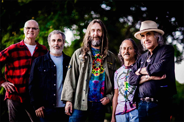 The Green Leaf Rustlers: John Molo, Greg Loiacono, Chris Robinson, Barry Sless, Pete Sears.