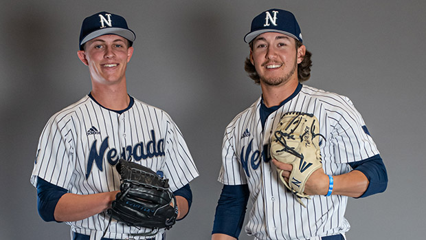 Owen Sharts (left) and Jake Jackson (right) had stellar seasons for Nevada. Nevada Athletics