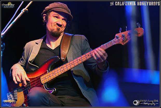 Beau Bradbury is on bass and in Tahoe onstage as the California Honeydrops make their concert return at the Crystal Bay Casino April 17-18. Tahoe Onstage photos by Larry Sabo.