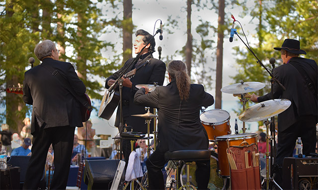 James Garner's Johnny Cash Tribute plays at Valhalla's Grand Lawn as live music returns to the Tallac Historic Site. Tahoe Onstage photos by Tim Parsons