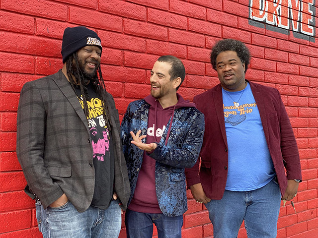 Delvon Lamarr, left, Dan Weiss and Jimmy James perform Wednesday at the Crystal Bay Casino.