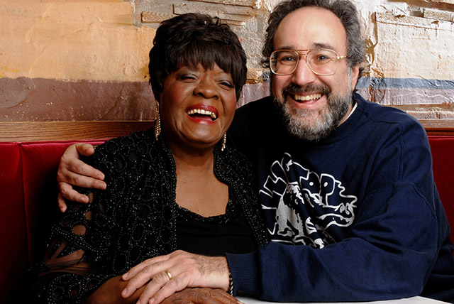 Queen of the Blues Koko Taylor with Alligator Records President and founder Bruce Iglauer. Marc Norberg / Alligator Records