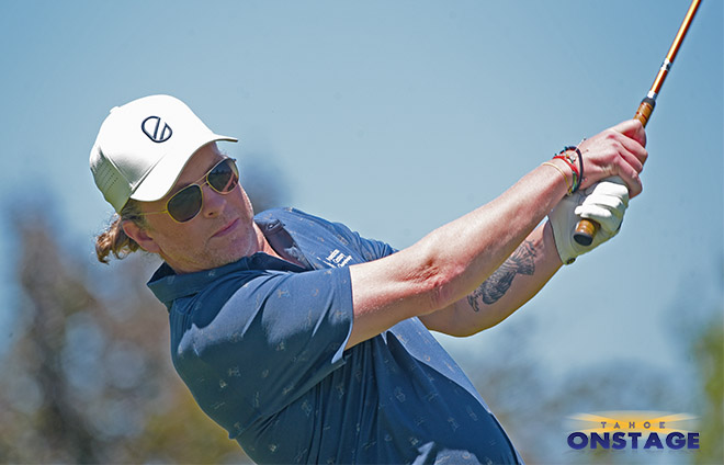 Joe Don Rooney tees off at Lake Tahoe's American Century Championship on Wednesday, July 7. Tim Parsons / Tahoe Onstage