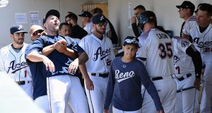Camaraderie, along with baseball, is the name of the game for the 2019 Reno Aces. Tim Parsons / Tahoe Onstage photos